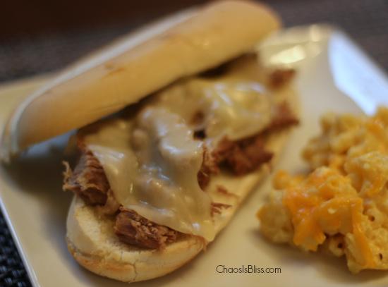 Slow Cooker Italian Beef Sandwiches horiz