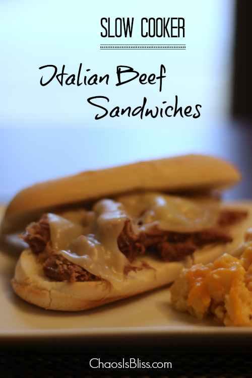 Slow Cooker Italian Beef Sandwiches, an easy Crock Pot recipe to feed a crowd.