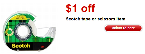 Target Scotch Tape coupon