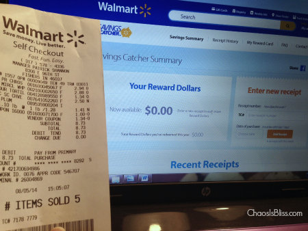 Walmart Savings Catcher Rebate Program