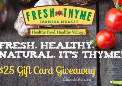 Fresh Thyme giveaway