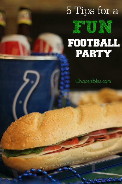 Have a fun football party with this Mega Italian Sub recipe!