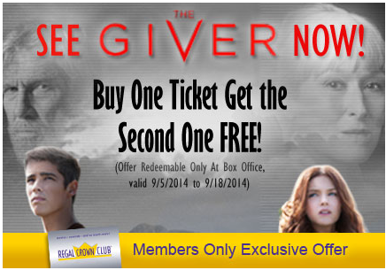 The Giver Movie | Buy One Get One FREE Movie Ticket
