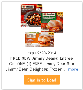 FREE Jimmy Dean Entree with Kroger Free Friday Download
