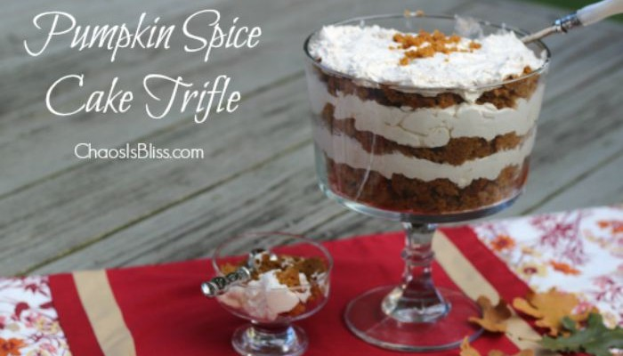 Pumpkin Spice Cake Trifle Recipe