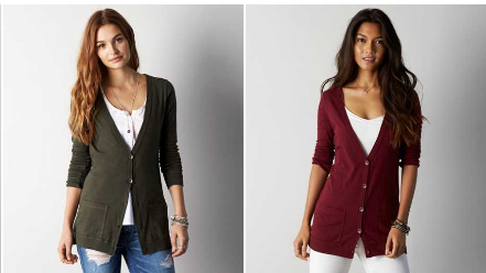 American Eagle Coupon Code | Save 25% + FREE Shipping (Boyfriend Cardigan for $16.87!)