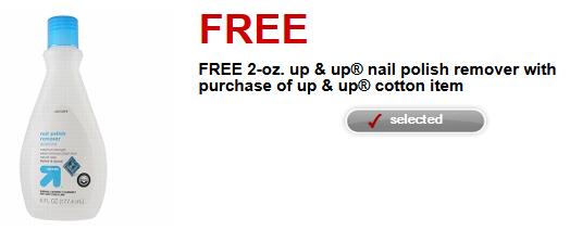 Free Target nail polish remover