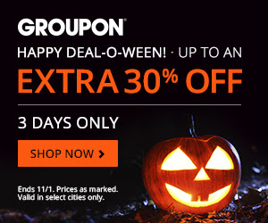 Groupon Deal-o-Ween | Extra Discounts on Local Deals