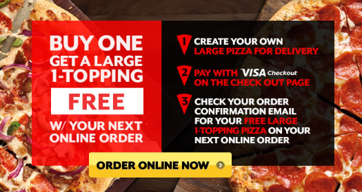 Pizza Hut Visa offer