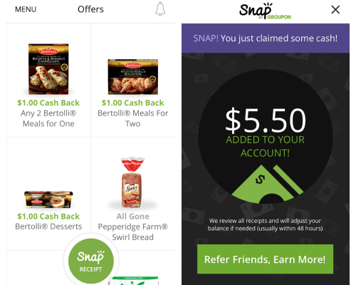 Snap by Groupon Grocery Rebate App