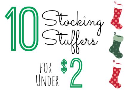 10 Stocking Stuffers Under $2.00 (11/10/14)