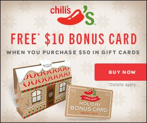 Chilis holiday bonus card