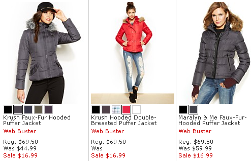 Macy's One Day Sale | Puffer Jackets $16.99, 12pc Cookware $29.99