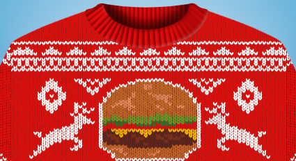 Red Robin ugly sweater