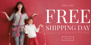 Vera Bradley Free Shipping Day
