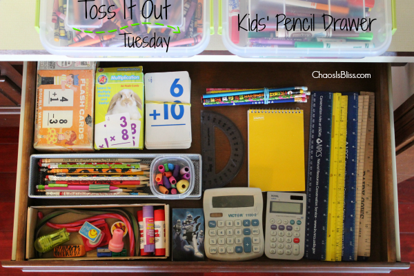 Toss It Out Tuesday | Kids' Pencil Drawer