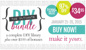 If you're into sewing, photography, gardening, home decor and more - get the Ultimate DIY bundle only through Jan. 26th, $1200 in eBooks and classes for only $34.95!