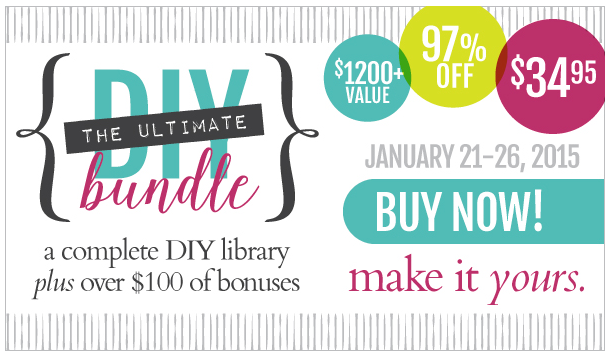Ultimate DIY Bundle | $1200 in DIY Books & Classes for $34.95