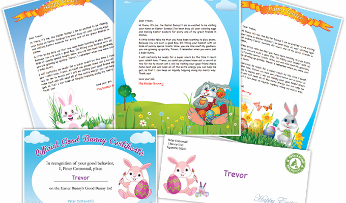FREE Easter Bunny Letter Printable
