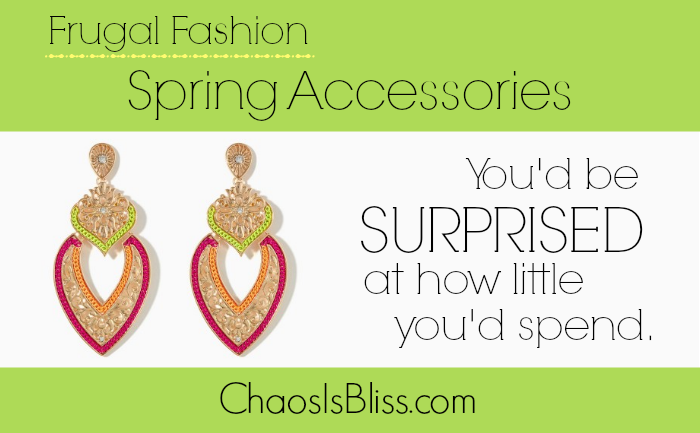 Spring fashion accessories on a small budget.