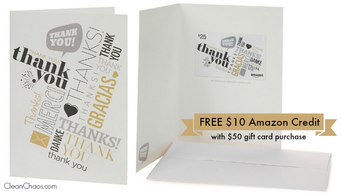 Amazon Coupon Code | Free $10 Credit with $50 Amazon Gift Card Purchase