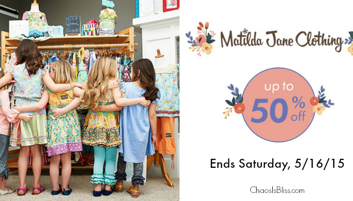 Save on Matilda Jane! Matilda Jane is up to 50% off for a limited time.