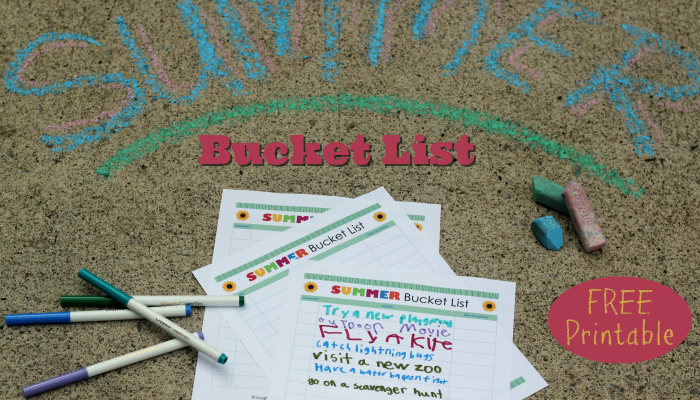Summer Bucket List | Free Printable