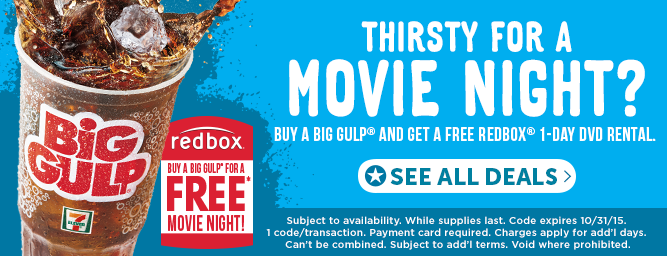 7-Eleven free Redbox offer