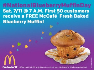 National Free Blueberry Muffin Day