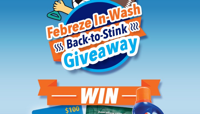 Febreze Back to Stink giveaway