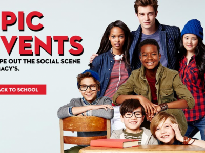 Macy's Back-to-School Shopping Party events around the country.