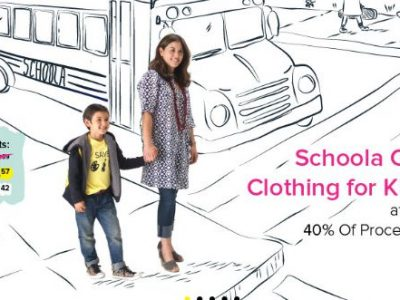 Shop at Schoola and 40% is donated to your local schools.