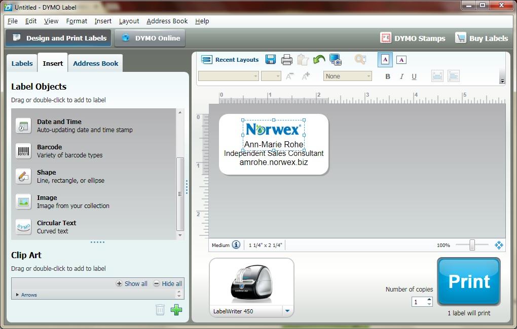 DYMO LabelWriter software