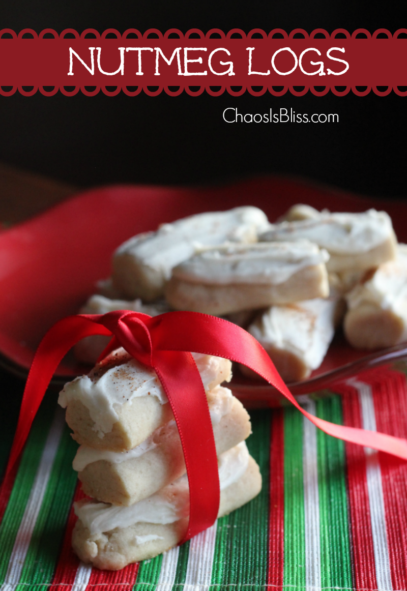 Heading to a Christmas cookie exchange? My favorite Christmas cookie growing up, were these Nutmeg Logs, easy to make and so yummy!