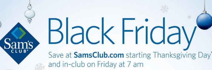 Sam's Club Black Friday Deals 2015
