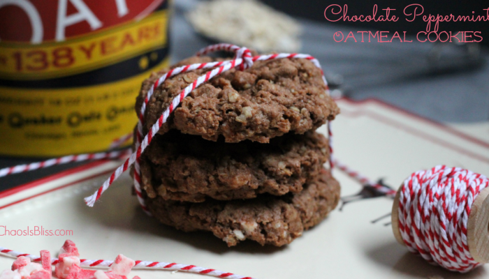 Chocolate Peppermint Oatmeal Cookies Recipe
