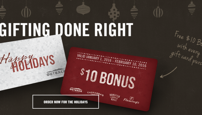 Holiday Restaurant Gift Card Deals 2015