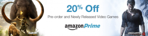 New Amazon Prime perk, save 20% on video game preorders.