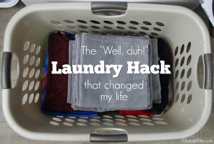 "4860b12fd3 Timesaver Tip | The One ""Well, duh!"" Laundry Hack That Changed My Life"