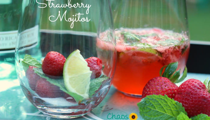 There could not possibly be a more refreshing summer adult beverage than a ice cold Strawberry Mojito, made with freshly picked strawberries and homegrown mint.