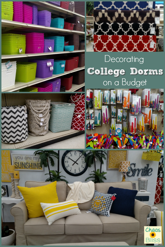 Decorating college dorms on a budget is a breeze when you have an At Home store near you.