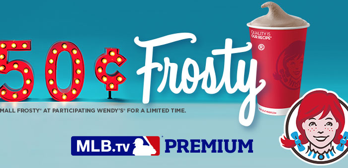 Wendy's 50 cent Frosty and MLB.tv