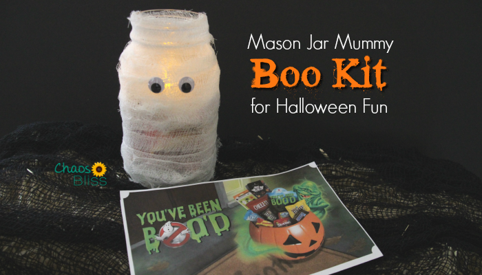 Halloween Mason Jar Craft | BOO Kit