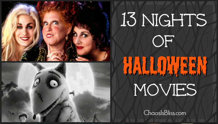 Watching scary movies is a fun thing to do leading up to Halloween. Here are 13 Nights of Halloween Movies, starting Oct. 19th, 2016 on Freeform (ABC Family).