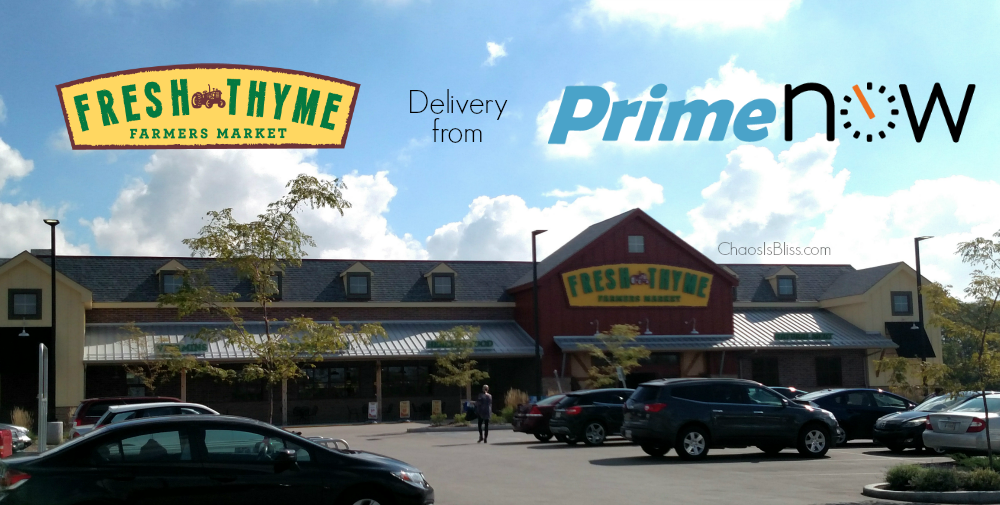 Now, you can get Fresh Thyme Farmers Market delivered to your home from Amazon Prime Now!