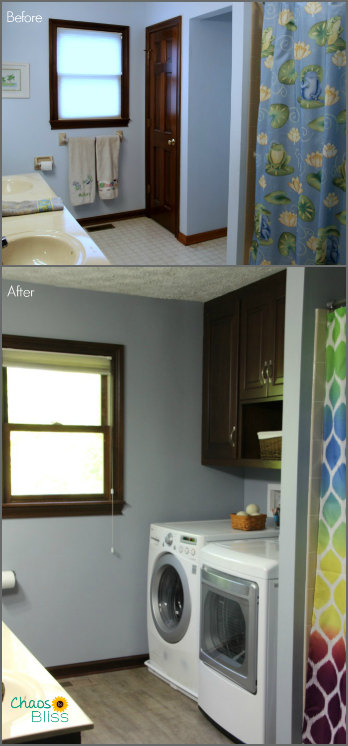 Bathroom remodel before and after kids 39 bathroom makeover for Bathroom renovation before and after