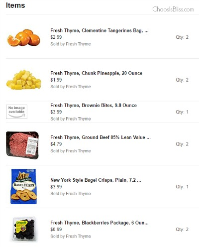Prime Now Fresh Thyme review