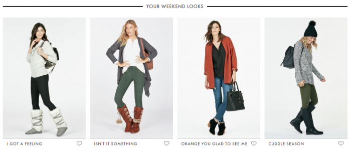 JustFab Fall styles