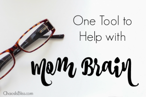 "I totally have ""mom brain"", and found this to be one tool that helps me survive!"