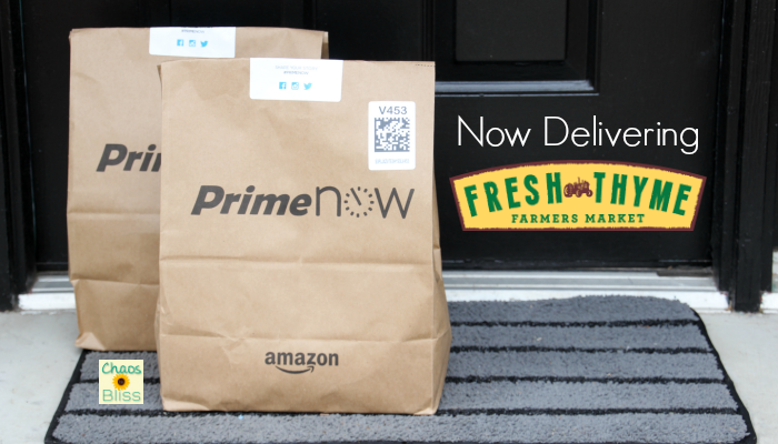 Amazon Prime Now Fresh Thyme Delivery Review